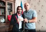 Fariz Nəcəfov Olimpiya medalçısı ilə görüşüb