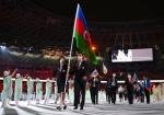 Azərbaycan idmançıları Tokio-2020-nin açılışında - FOTOLAR