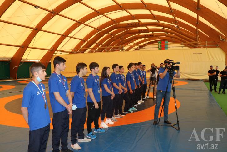 Avropa çempionatının medalçılarının mükafatlandırılma mərasimi keçirilib