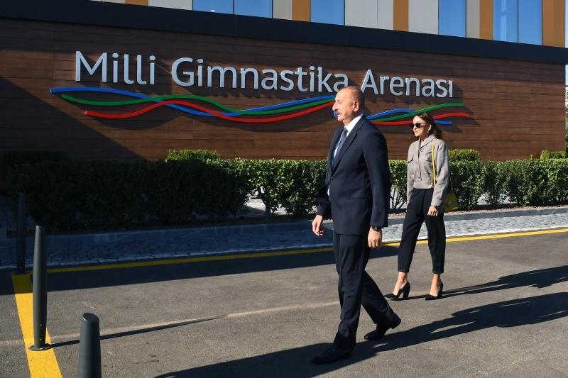 Prezident Milli Gimnastika Arenasının yeni məşq binasında